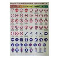 Sürücü Kursu Afiş Seti Poster Trafik,İlk Yardım,Motor